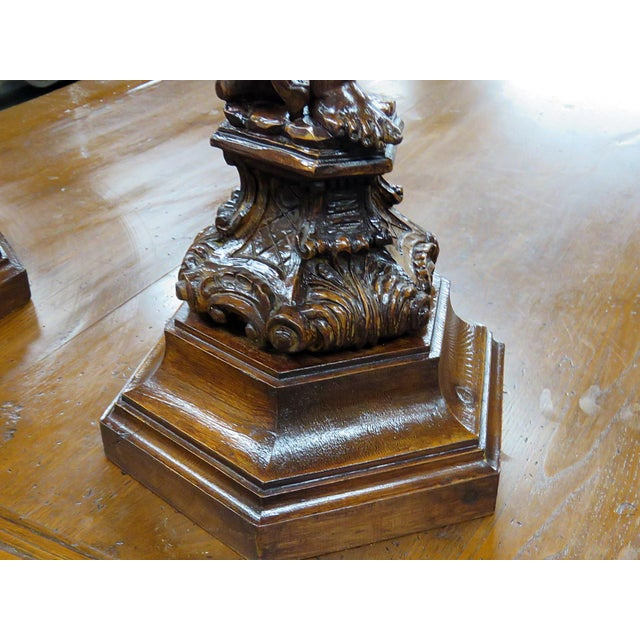Renaissance Pair of Renaissance Style Putti Pedestals For Sale - Image 3 of 7