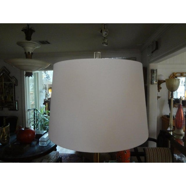 Brass Mid-Century Modern Paul McCobb Style Brass Tripod Floor Lamp For Sale - Image 8 of 12