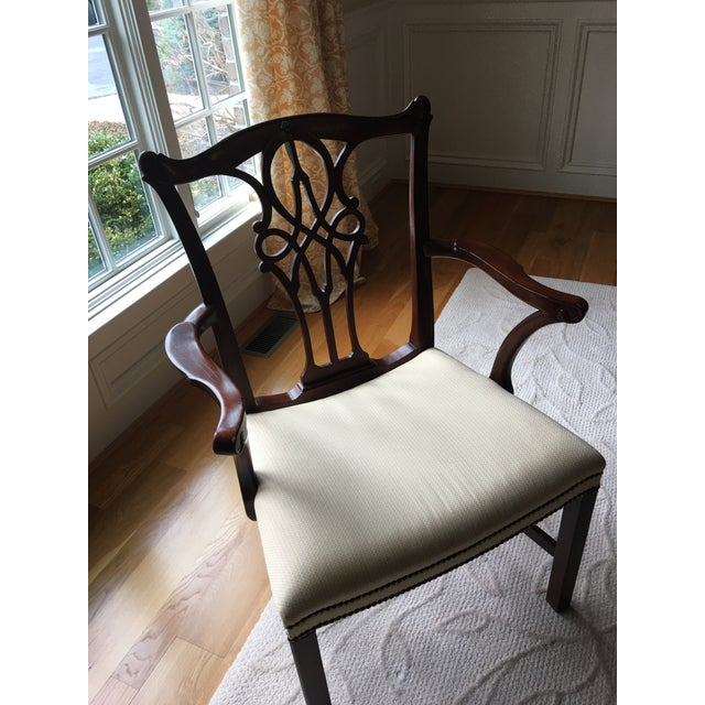 Georgian Baker Stately Home Mahogany Dining Chairs - Set of 8 Style 5244 & 5245, Excellent Condition! For Sale - Image 3 of 7