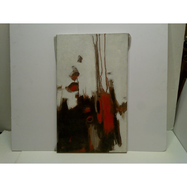 "Red 20th Century Contemporary Original Framed Painting on Canvas, ""Flowing Red"" by Frederick McDuff For Sale - Image 8 of 8"