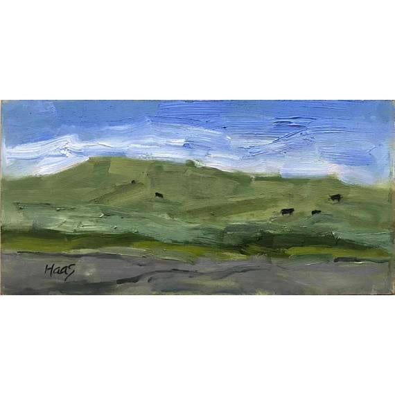 """Yolo County Cows"" Oil Painting For Sale - Image 11 of 11"