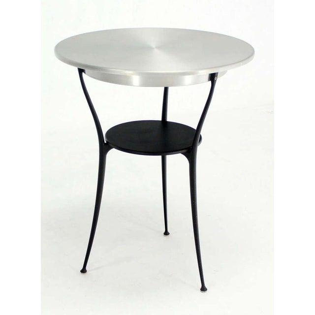 Very nice Italian modern design café table by Arper.