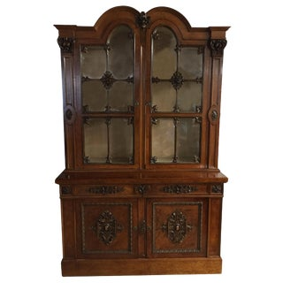 1850s English Traditional Maple Bookcase For Sale