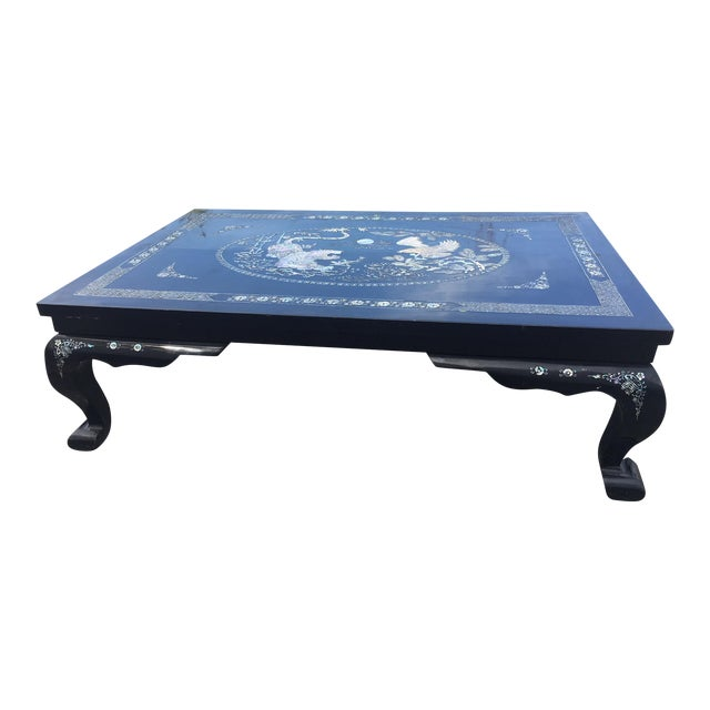 Mother of Pearl Lacquered Table For Sale