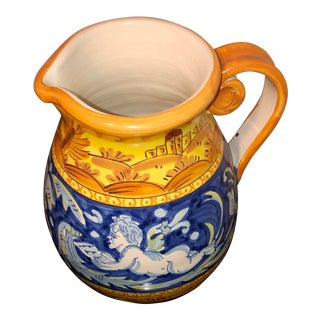 Deruta Style Ceramic Tea Pot, Italy For Sale