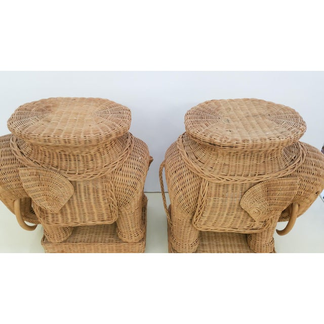 Hollywood Regency Wicker Elephant - A Pair - Image 6 of 6
