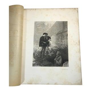 """1892 Antique Scene From Shakespeare's """"Hamlet"""" Photogravure Print For Sale"""