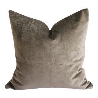 Mushroom Vintage Velvet Pillow For Sale
