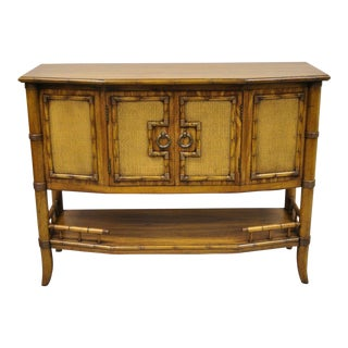 1970s Vintage Thomasville Faux Bamboo Credenza For Sale