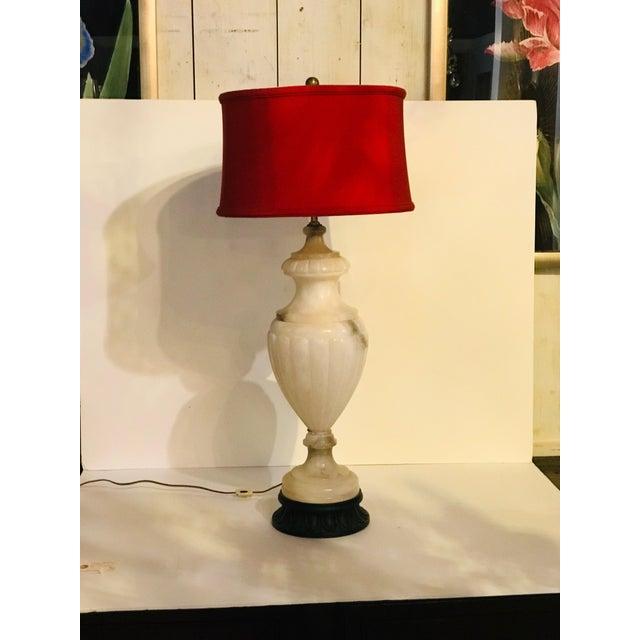 Vintage Alabaster Lamp For Sale - Image 6 of 6