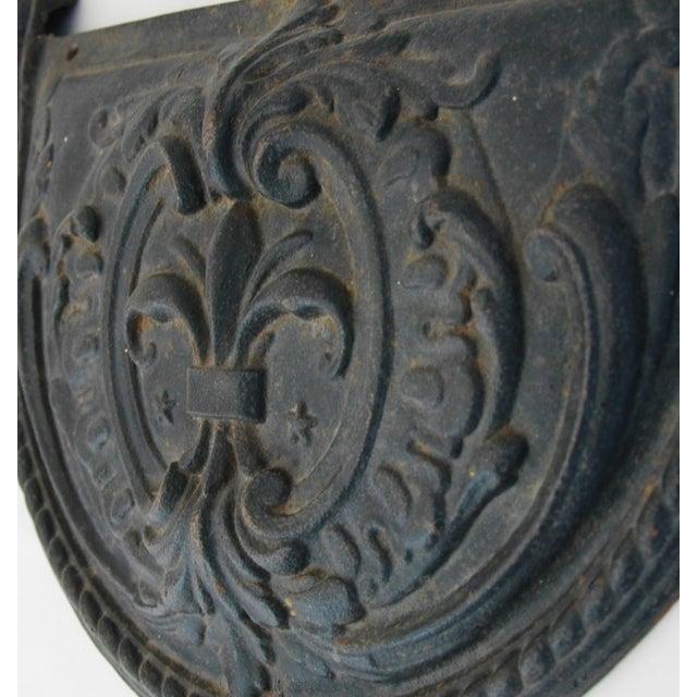 19th C. French Fleur-De-Lis Iron Relief Plaque - Image 6 of 8