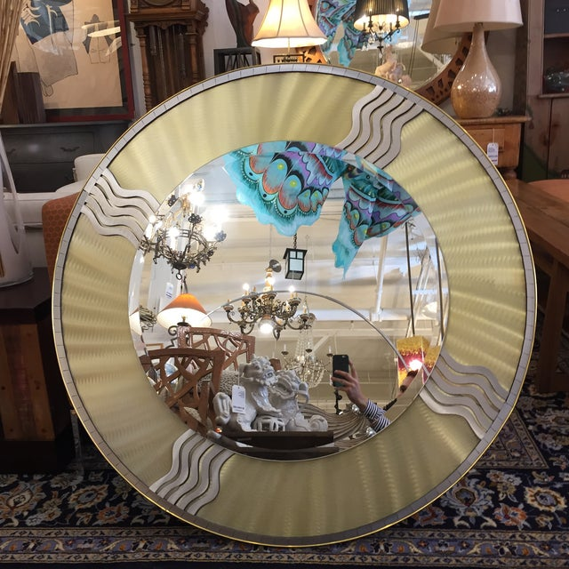 Art Deco Silver & Gold Metal Mirror - Image 2 of 10