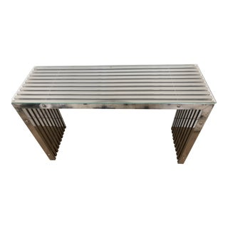 Glass Top Metal Modern Console