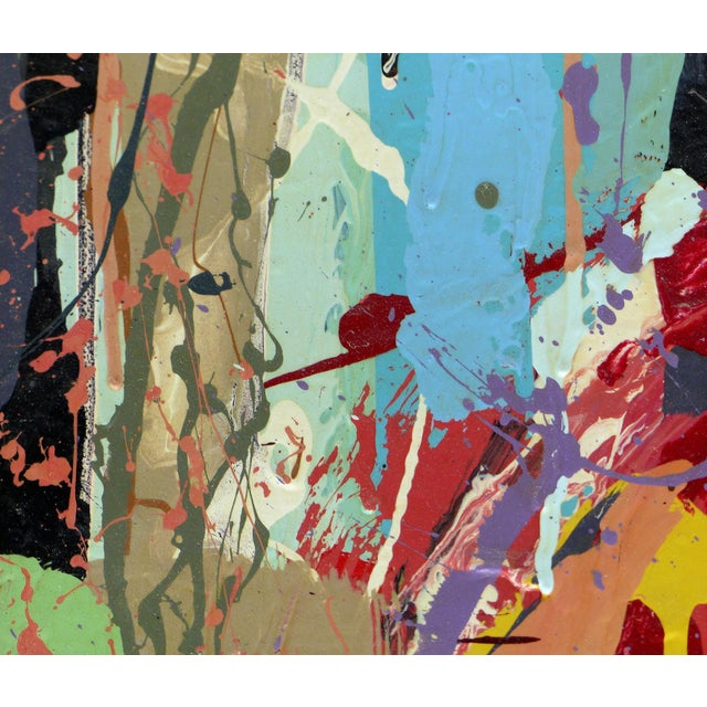 """William P. Montgomery Abstract Mixed Media Painting """"Rocket Science #1"""" For Sale - Image 9 of 13"""