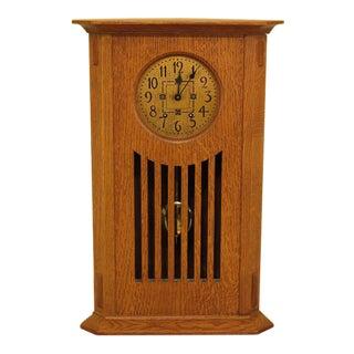 Stickley Mission Oak Corner Mantle Clock