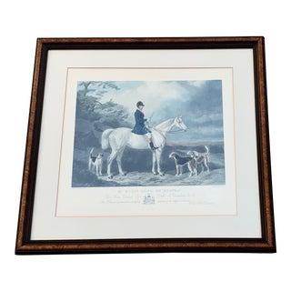 Vintage Equestrian Print For Sale