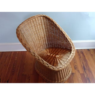 Mid Century Wicker Chair Cocoon Shape Preview