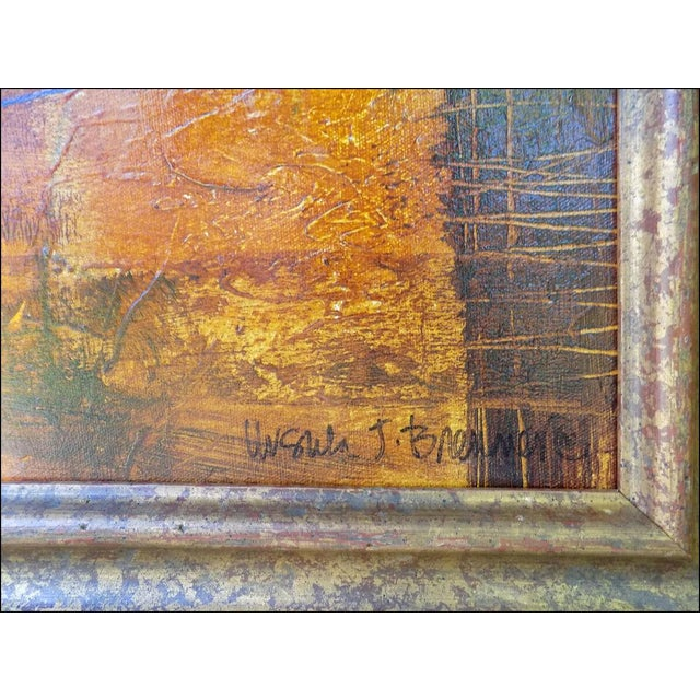 Ursula J Brenner Paintings Original Abstracts on Canvas - a Pair For Sale - Image 4 of 5