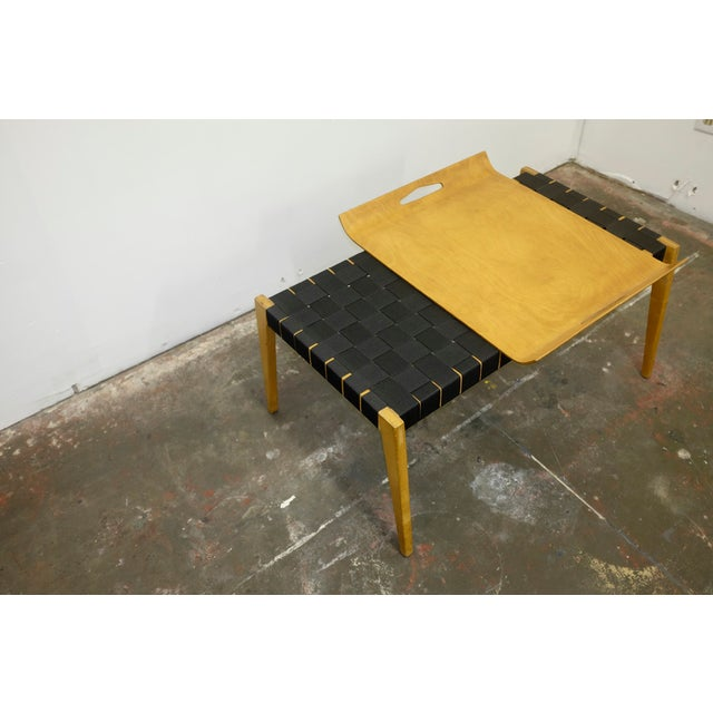 Mid-Century Modern Abel Sorenson Tray Table and Bench For Sale - Image 3 of 5