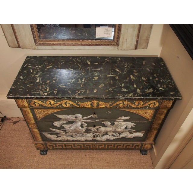 20th Century Italian Empire Commode For Sale - Image 4 of 8