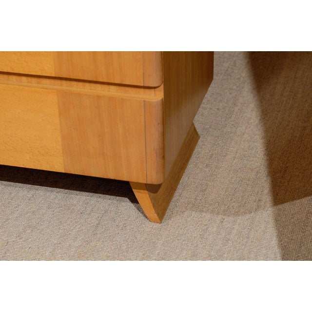 Gorgeous Rway Six-Drawer Chest in Blonde Mahogany and Bird's-Eye Maple For Sale - Image 9 of 11