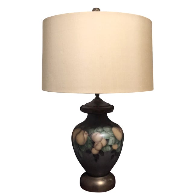 Vintage Hand-Painted Pear Lamp - Image 1 of 4