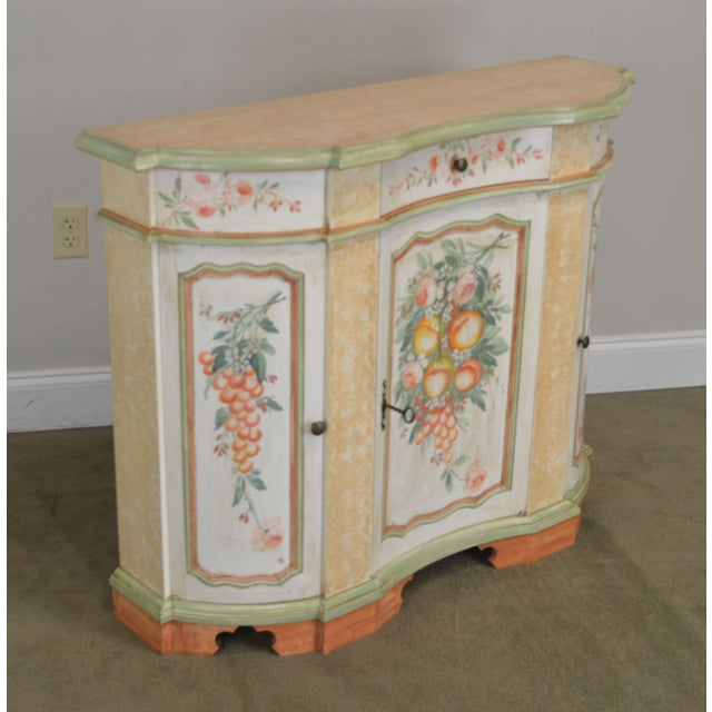 High Quality Italian Made 1 Drawer 3 Door Console with Key Locking Center Door