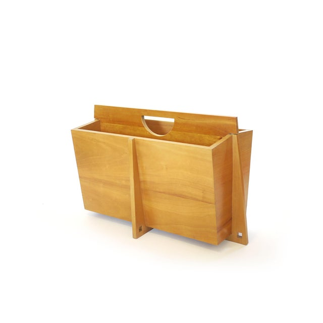 Large Mid-Century Magazine Rack For Sale In Los Angeles - Image 6 of 6