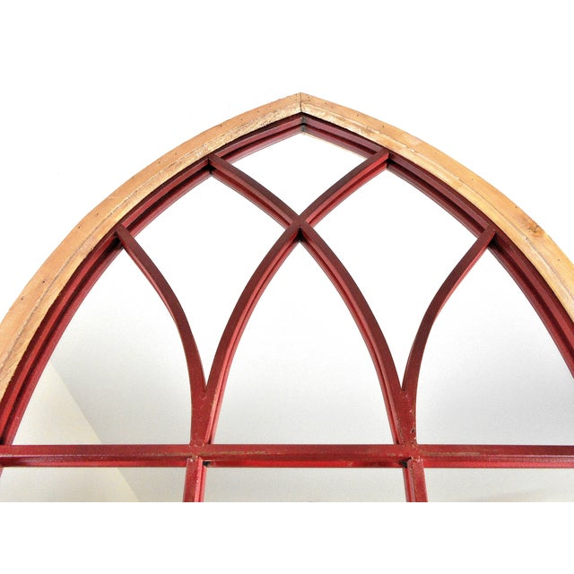 Gothic Cathedral Style Arched Wall Mirror - Image 3 of 4