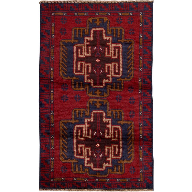 "Apadana - Vintage Persian Balouch Rug - 2'9"" x 4'7"" - Image 1 of 4"