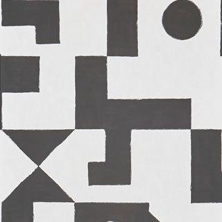 Sample - Schumacher X Porter Teleo Binary Wallpaper in Black For Sale