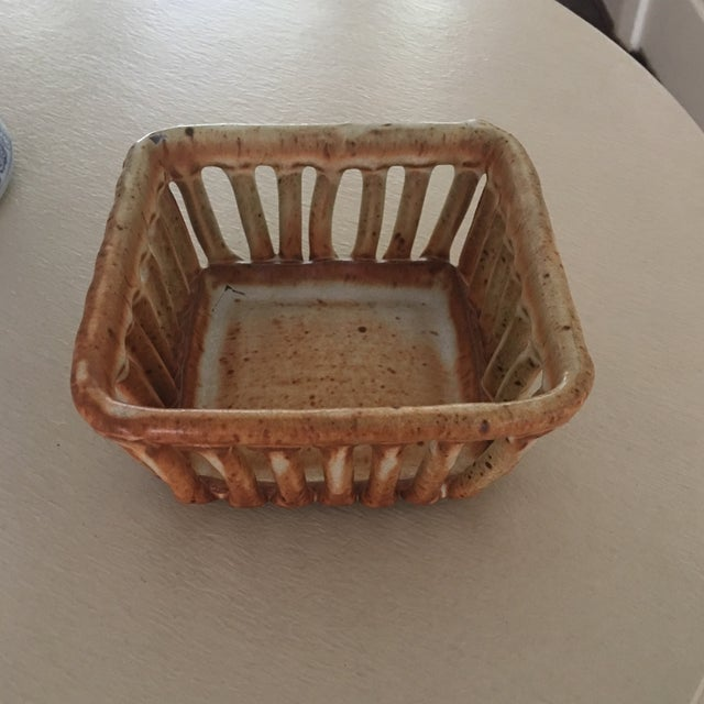 Cohen Pottery Organic Modern Basket For Sale In Washington DC - Image 6 of 13