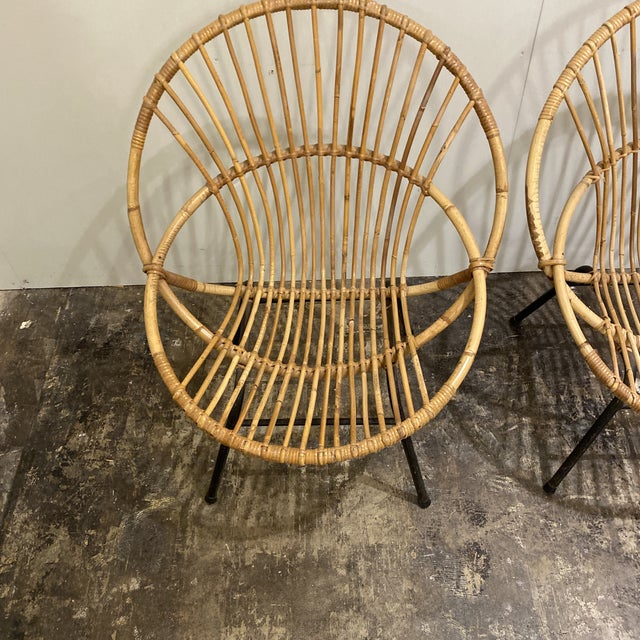 1970s Mid Century Chairs - a Pair For Sale - Image 5 of 9