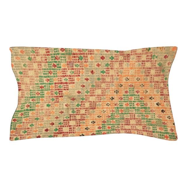 "Nalbandian - 1960s Turkish Jijim Pillow - 12"" X 23"" For Sale"