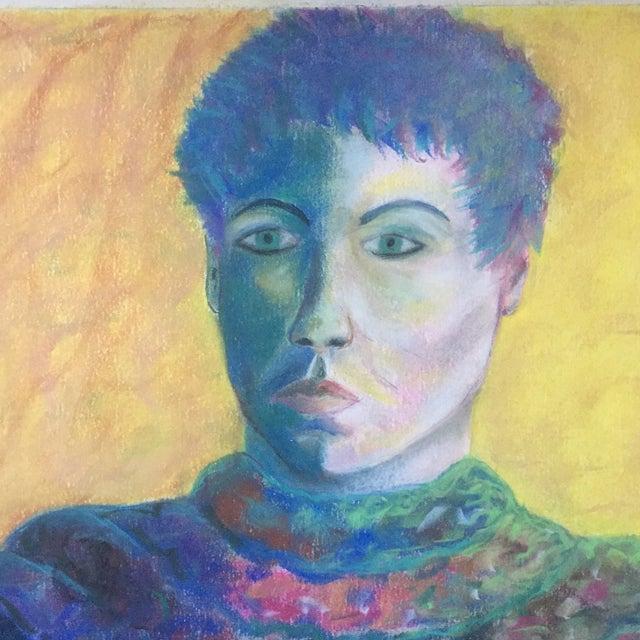 Figurative Vintage Original Pastel Female Portrait Campbell For Sale - Image 3 of 7