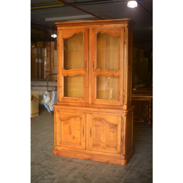 French Cherrywood & Glass Bookcase - Image 2 of 10