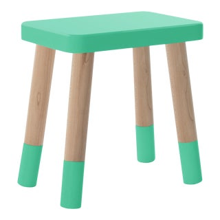 Tippy Toe Kids Chair in Maple and Mint Finish For Sale