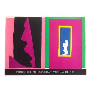 "Henri Matisse Rare Vintage 1983 Jazz Portfolio Silkscreen Print Metropolitan Museum Poster "" Le Destin - the Destiny "" 1947 For Sale"