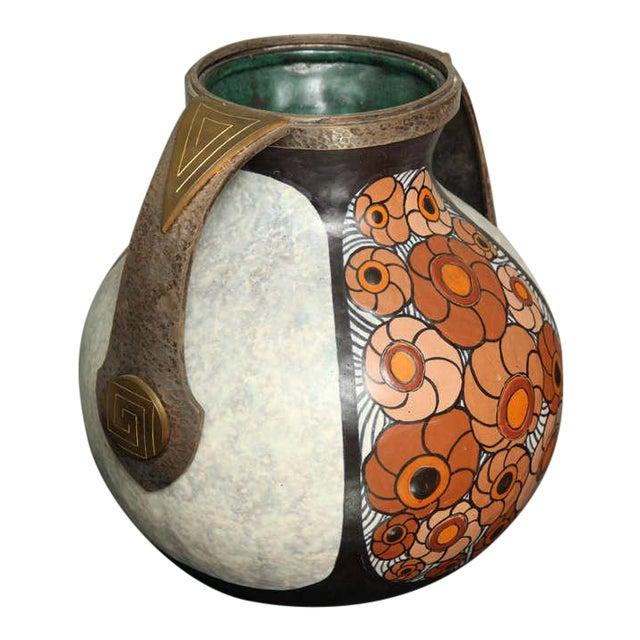 Art Deco Pottery Amphora Vase by Louis Dage For Sale