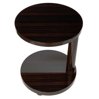 Deco Style Macassar Ebony Adjustable Side Table by Hugues Chevalier For Sale