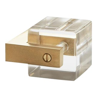 Nest Studio Collection Transparency-12 Satin Brass Knob For Sale
