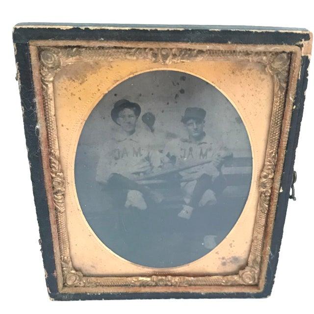 Daguerreotype Copper Framed Baseball Players - Image 1 of 3