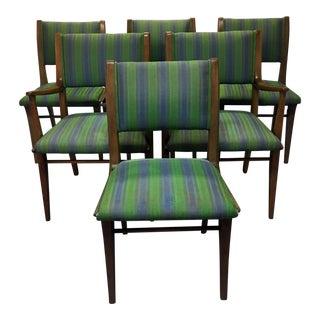 Mid-Century Danish Modern John Van Koert Drexel Profile Dining Chairs - Set of 6