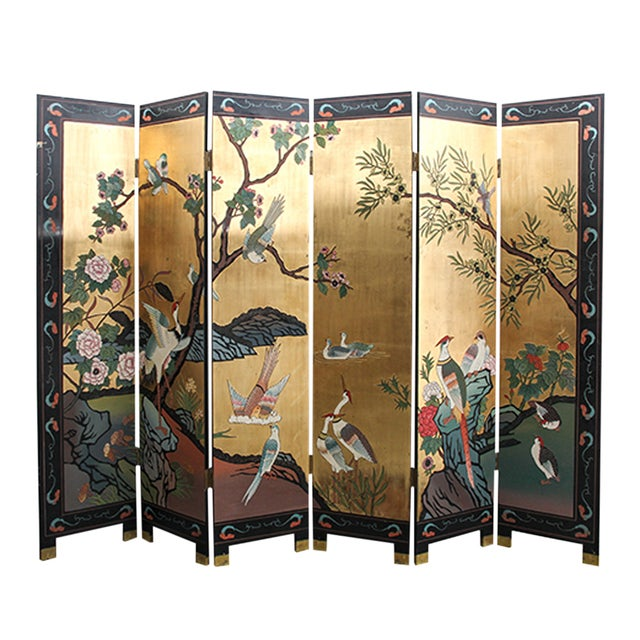Mid 20th Century Chinese Folding Screen - Image 6 of 6
