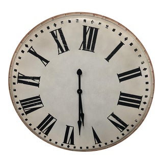 Chateau Round Metal Wall Clock