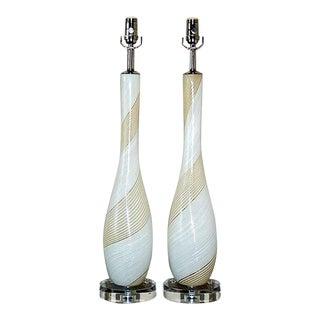 Dino Martens Striped Murano Lamps For Sale