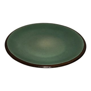 Mid-Century Glazed Dining Plate For Sale