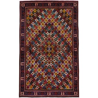 "Vintage Persian Joshegan Rug - Size: 4' 1"" X 6' 8"" For Sale"