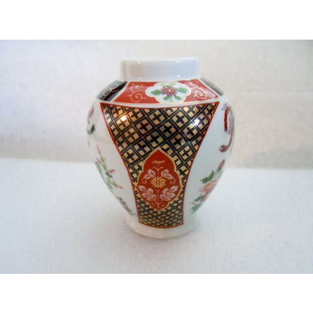 "Japanese Imari vase Condition is excellent, no chips, cracks, or crazing. Vase measures approximately 4 ½"" tall with a 3.5..."