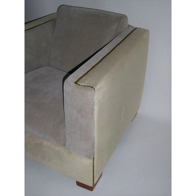 Brass Streamline Moderne Lounge Chair 1940s For Sale - Image 7 of 11